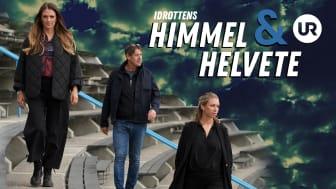 Niklas Hyland, Johanna Ojala och Elin Norberg är reportrar i UR:s Idrottens himmel och helvete säsong 3. Foto: UR.