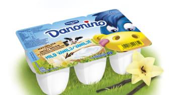 Barnens favoritkvarg Danonino - nu i klassisk vaniljsmak