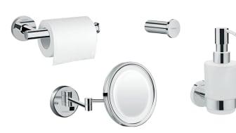hansgrohe Logis Universal er et komplet sortiment af badeværelsestilbehør til en attraktiv pris.