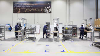 Panalpina engineers assemble, configure and test cabinets at the new LMS hub in Dubai.