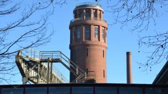 Der Wasserturm in Kirchmöser ist 65 Meter hoch und von fast überall gut sichtbar. Foto: TMB-Fotoarchiv/Matthias Schäfer.