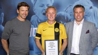 Rickard Mattsson, V. Ingelstads IS. Här tillsammans med Jesper Blomqvist och Mikael Tykesson.