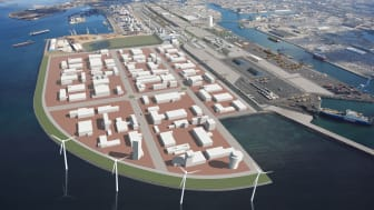 Visionsbild Norra Hamnen, Malmö Industrial Park