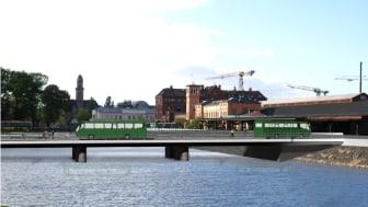 Bussbron vid Malmö Centralstation tar form