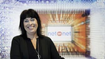 Carola Tiberg, NetOnNets marknadschef.