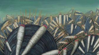Även på de första djuren för 500 miljoner år sedan fanns parasiter visar ny forskning från Naturhistoriska riksmuseet. Rekonstruktion Rebecca Gelernter, Near Bird Studios.