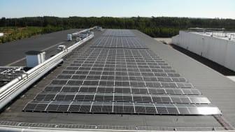 Martin & Servera dubblerar produktionen av solenergi med ny solcellsanläggning i Halmstad