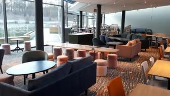 Interiörbild från nya Food & Co, Frösundavik