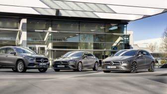Under mars månad har Mercedes-Benz presenterat inte mindre än 10 nya kommande laddhybrider. Däribland tre i kompaktklassen.