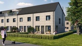 De nybyggda radhusen i Norra Borstahusen i Landskrona sålde slut på något av rekordtid.