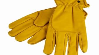 Skinnhandskarna i varumärket Pratts, från Verktygsboden, är praktiska arbetshandskar i retrostil.