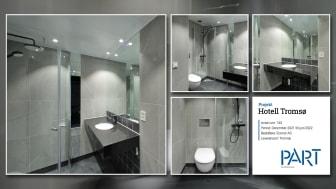 Part levererar 143 badrum till projektet Hotell Tromsø i Norge.