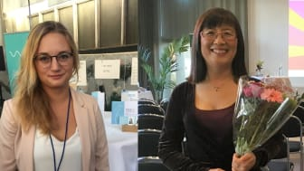Vänster: Sofie Woge, Tendo.   Höger: Tongyun Shen, Robust Seed Technology A&F