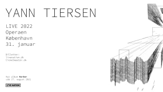 Den franske musiker og komponist Yann Tiersen gæster Operaens Store Scene 31. januar 2022