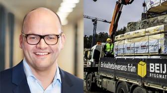 Geir Thomas Fossum, CEO på Beijer Byggmaterial.