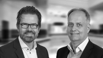 Mikael Andersson, finanschef och Per Wange, ekonomichef på Humlegården Fastigheter.