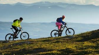 Nu breddar Åre cykelprodukten och fortsätter utvecklingen av crosscountrycyklingen. Foto: Simon Sjörén.
