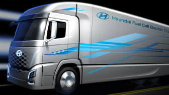 Hyundais nye hydrogenelektriske lastebil. Foto: Hyundai