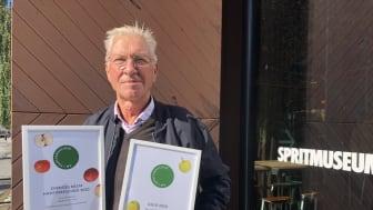 """Sveriges bästa hantverkscider """"Oppgårdens cider"""" tillverkades av Leif Orrebrink, Selaön."""