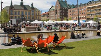 Eskilstuna tilldelas nu utmärkelsen Årets Fairtrade City för sitt stora engagemang och samverkan med lokala aktörer. Foto: Eskilstuna kommun.