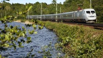 Raka järnvägsspåret från Dalsland ut i Europa under sommaren