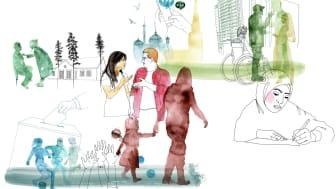 Från utställningen Demokrati pågår. Illustration: Linnea Blixt.