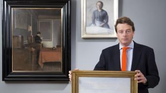 Frederik Bruun Rasmussen with works by Vilhelm Hammershøi