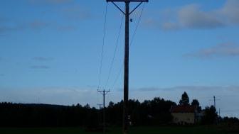 Den lilla lådan högt däruppe på stolpen är en så kallad agent från Exeri, vars teknik Smart Grid Surveillance upptäcker, klassificerar och lokaliserar avbrott.