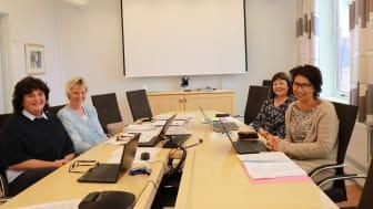 Arbeidsgruppe for planlegging av den nye videreutdanningen. F.v. dekan Heidi Haavardsen og prosjektleder Ingeborg Ulvund, HiMolde, helsesykepleier Liv Janne og helsesykepleier Lillian Bjerkeli Grøvdal.