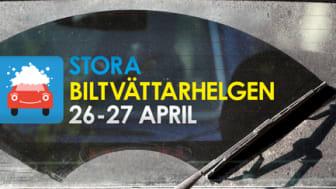 Stora Biltvättarhelgen 26-27 april - tvätta bilen miljövänligt
