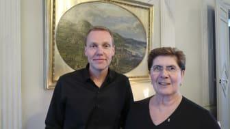 Johan Andersson med Landshövdingen Ylva Thörn