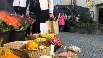 Höstmarknad på Södergatan i Sölvesborg
