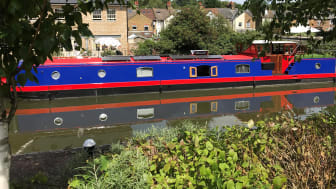 70ft Kingsley barge Sacred is equipped with an electric propulsion system and generator supplied by Fischer Panda UK