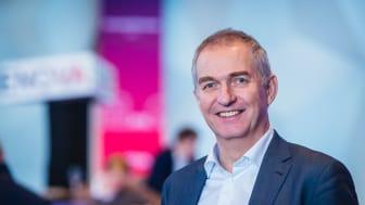 Adm.dir. Morten Mellerud i WindPartner på Enovakonferansen onsdag.