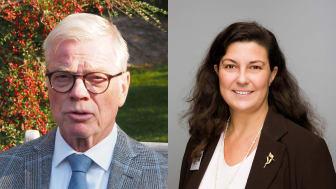 Marie Wahren-Herlenius, professor i experimentell reumatologi och Sven-Erik Sonesson, professor emeritus, barnkardiologi vid Karolinska Institutet får Nanna Svartz stipendium för framstående reumatologisk forskning 2020.