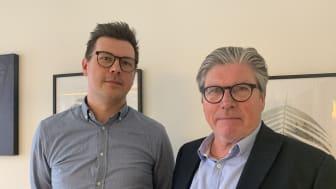 Andreas Bill, utbildningsnämndens ordförande och Ove Brodin, förvaltningschef Utbildning