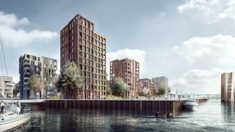 En grøn ø med ni tårne skal bygge bro mellem Vejle og KIRK KAPITALs hovedsæde