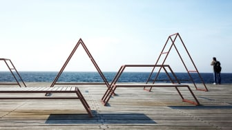 Kebne outdoor gym and its modules, design by Kauppi & Kauppi for Nola.
