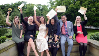 Nursing and Midwifery students with their awards
