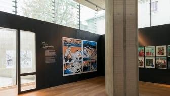 Arkitekturstriper. Installasjonsfoto, Nasjonalmuseet, 2015
