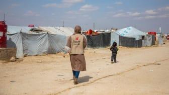 Nariman*, som jobbar på Rädda Barnen, besökte Al Hol i nordöstra Syrien i mars i år. Hon heter egentligen något annat.