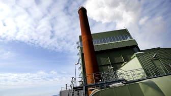 Jämtkrafts kraftvärmeverk i Lugnvik utanför Östersund. Foto: Jämtkraft