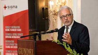Dr. András Guttman at the Gran Prize Gala Dinner. Photo credit: Csaba Molnár