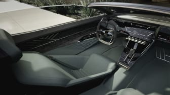 Audi skysphere interiør med rat og pedaler