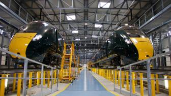 I nuovi treni per la linea GWR del Devon e della Cornovaglia partono dalla Toscana per il loro viaggio attraverso l'Europa