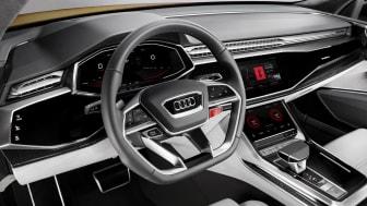 Audi visar Audi Q8 sport concept med integrerat operativsystem från Android