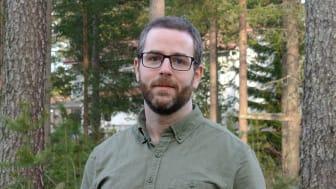 Rickard Sjögren, doktorand på Kemiska institutionen vid Umeå universitet. Foto: Emma Sjögren