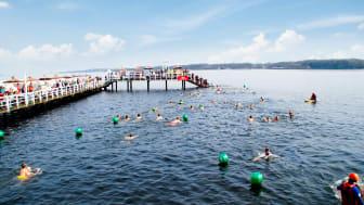 Anbaden in der Seebadeanstalt Düsternbrook am 29. März 2020