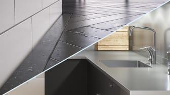 Purus finns på plats i monter AG:31 på mässan och inspirerar med design i både badrum och kök