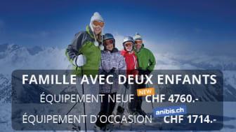Étude sur les prix des équipements de ski - Jusqu'à 3000 francs d'économie pour du matériel d'occasion pour une famille